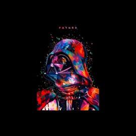 tee shirt dark vador father star wars pixels