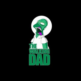 tee shirt the walking dad homer simpson