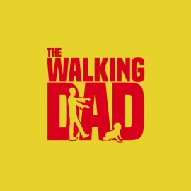 tee shirt the walking dad dur d etre papa