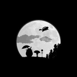 tee shirt totoro clair de lune