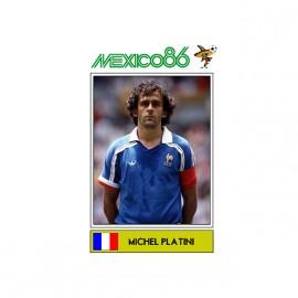 tee shirt michel platini mexico 86 panini