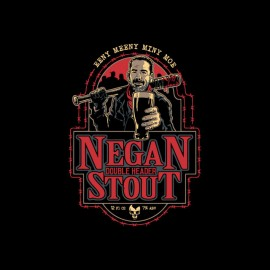 tee shirt negan biere walking dead