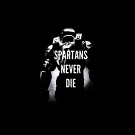 tee shirt spartans never die halo