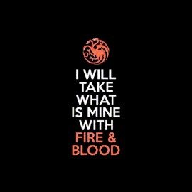 tee shirt fire blood targaryen game of thrones