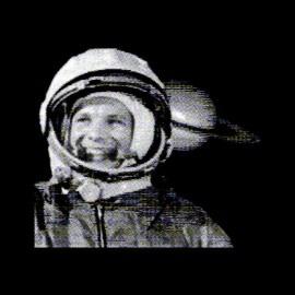tee shirt gagarin astronaute russe