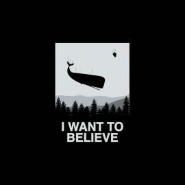 tee shirt i want to believe baleine volante
