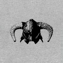 tee shirt skyrim casque nordique