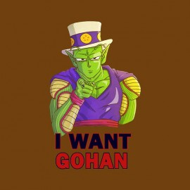 tee shirt i want gohan piccolo satan dragon ball