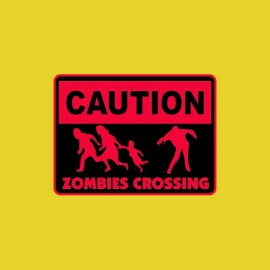 tee shirt zombies crossing