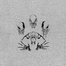 tee shirt alien evolution face