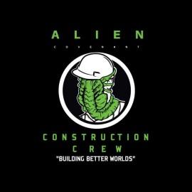 tee shirt alien covenant equipe construction