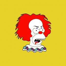 tee shirt krusty le clown horror show simpson