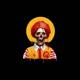 tee shirt Ronald McDonald horreur gore zombi