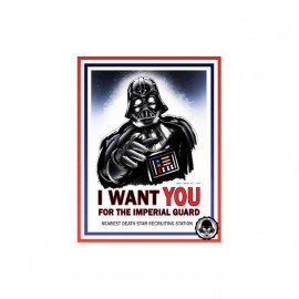 tee shirt star wars i want you imperiaux