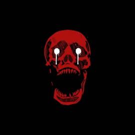 tee shirt red skull horror show