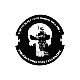 tee shirt american sniper violence