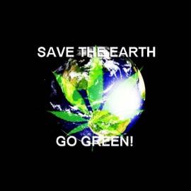 tee shirt ecolo green planete ganja