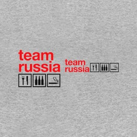 tee shirt team russia alcool