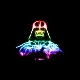 tee shirt dark vador neon