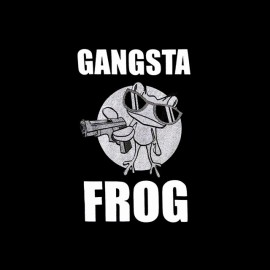 tee shirt gangsta frog