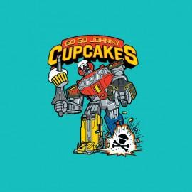 tee shirt cupcake robot