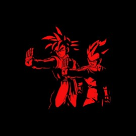 tee shirt goku et vegeta dragon ball