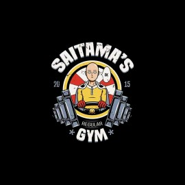 tee shirt saitama s gym one punch man