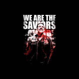 tee shirt walking dead saviors negan poster