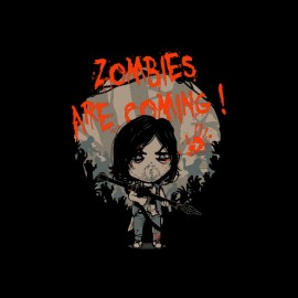 tee shirt zombies are coming daryl walking dead