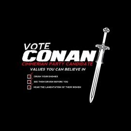 tee shirt vote conan le barbare