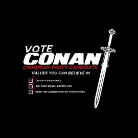 tee shirt vote conan le barbare