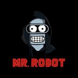 tee shirt mr robot est bender