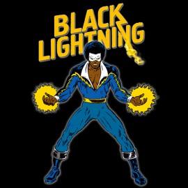 tee shirt Black Lightning