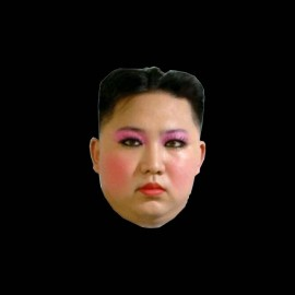 tee shirt Kim Jong-un maquillage
