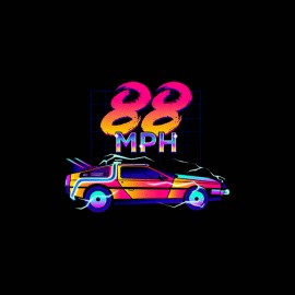 tee shirt 88 mph retour vers le futur
