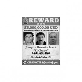 tee shirt el chapo reward
