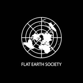 tee shirt flat earth society