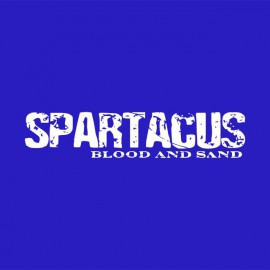 Tee shirt Spartacus white / royal