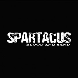 Tee shirt Spartacus white / black
