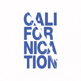 Tee shirt Californication blue / white