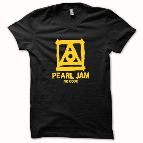 Tee shirt Pearl Jam no code jaune/Noir