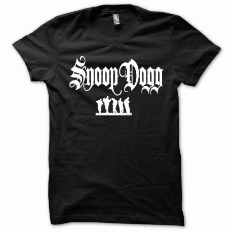Tee shirt Snoop Dogg blanc/noir
