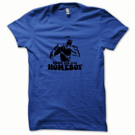 Tee shirt Bruce Lee noir/bleu royal