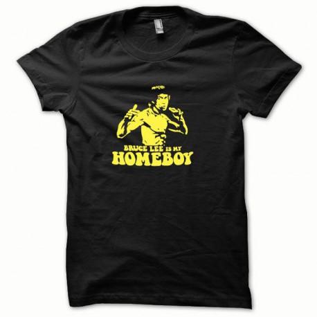 Tee shirt Bruce Lee jaune/noir