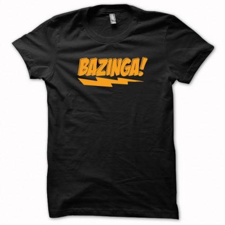 Tee shirt Sheldon Cooper Bazinga orange/noir