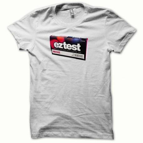 Tee shirt drogue Eztest testeur extasy blanc