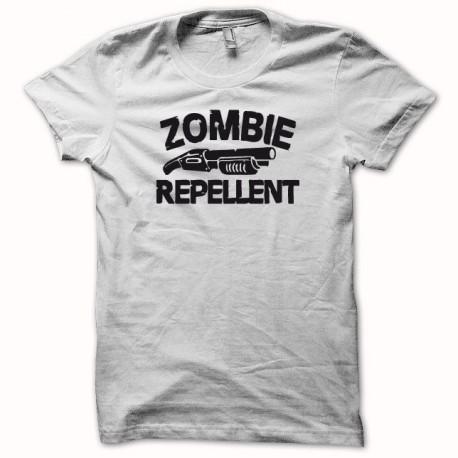 Tee shirt army Zombie replicant repellent fusil à pompe blanc