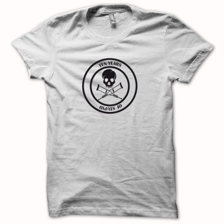 Jackass t-shirt 10 years of stupid black / white