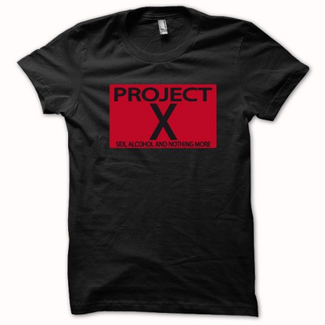 Tee shirt Project X  noir