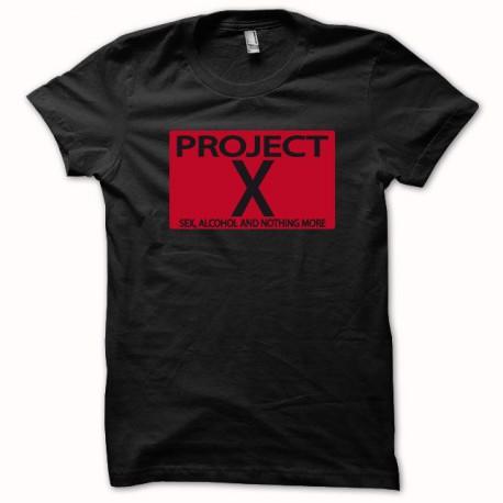 negro camiseta Proyecto X